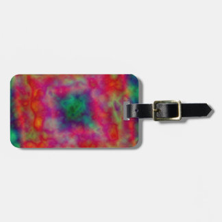 Red And Green Tie Dye Tags For Bags