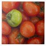 Red and Green Tomatoes with a for Sale Sign Tiles