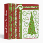 Red and Green Tree Holiday Photo Book Binder