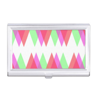 Red and green triangles business card case