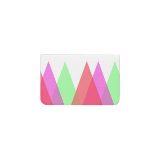Red and green triangles business card holder