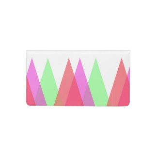 Red and green triangles checkbook cover