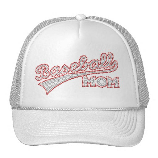 Red And Grey Baseball Mom Hat