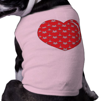 RED AND GREY HEART TEE