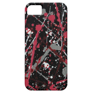 Red and Grey Paint Splatter electronics case