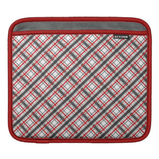Red and Grey Plaid Sleeve For iPads