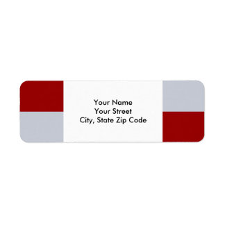 Red and Grey Rectangles address label