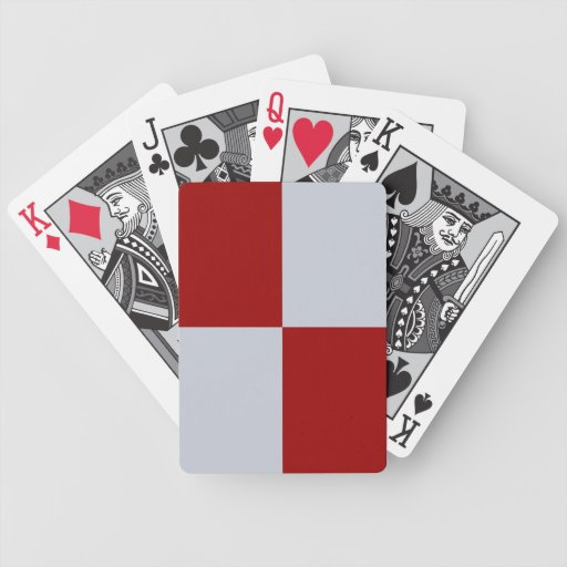 Red and Grey Rectangles Bicycle Playing Cards