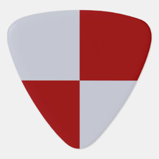 Red and Grey Rectangles Guitar Pick