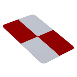 Red and Grey Rectangles Magnet