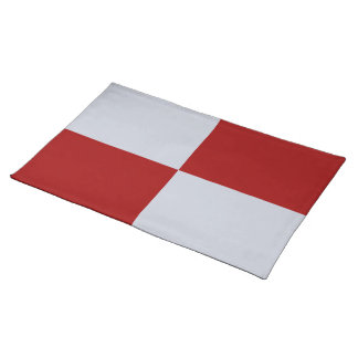Red and Grey Rectangles Placemat
