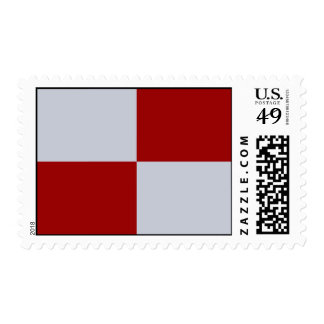 Red and Grey Rectangles Stamp