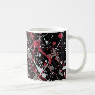 Red and Grey Scatter I Mug
