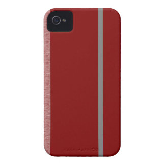 Red and Grey Stiped pattern iPhone 4 Case-Mate Cases