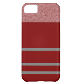 Red and Grey Stiped pattern Case For iPhone 5C
