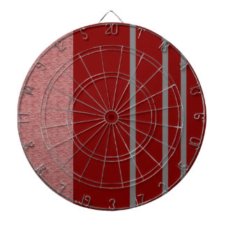 Red and Grey Stiped pattern Dartboard With Darts