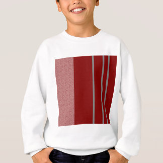 Red and Grey Stiped pattern Sweatshirt