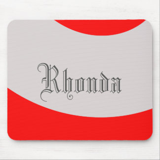 Red and Grey swoop Mouse Pad