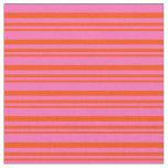 [ Thumbnail: Red and Hot Pink Colored Pattern Fabric ]