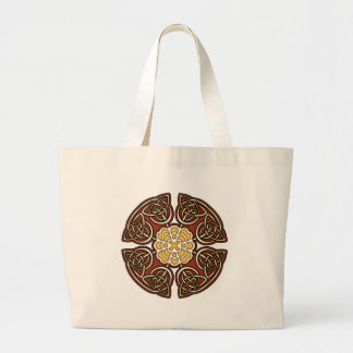 Red and Ivory Celtic Knotwork Design Bags