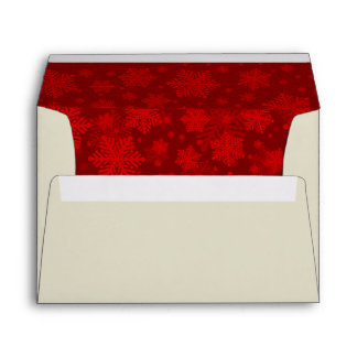 Red and Ivory Holiday Wedding Envelope
