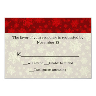 Red and Ivory Holiday Wedding Response Card