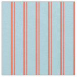 [ Thumbnail: Red and Light Blue Colored Stripes Pattern Fabric ]