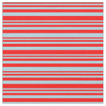 [ Thumbnail: Red and Light Blue Pattern Fabric ]