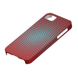 Red and light blue polka dots with a twist iPhone 5 covers