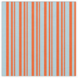 [ Thumbnail: Red and Light Blue Striped/Lined Pattern Fabric ]