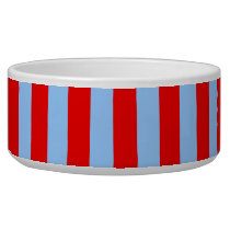 Red and Light Blue Stripes Bowl