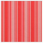 [ Thumbnail: Red and Light Coral Colored Stripes Fabric ]