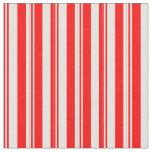 [ Thumbnail: Red and Light Cyan Pattern of Stripes Fabric ]