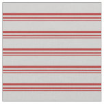 [ Thumbnail: Red and Light Gray Colored Lines Fabric ]