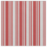 [ Thumbnail: Red and Light Gray Striped/Lined Pattern Fabric ]
