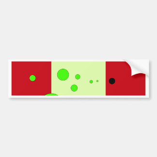 Red and light green with bubbles bumper sticker