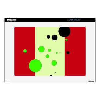 Red and light green with bubbles laptop decal