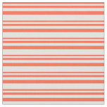 [ Thumbnail: Red and Light Yellow Colored Pattern of Stripes Fabric ]