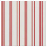 [ Thumbnail: Red and Light Yellow Colored Stripes Fabric ]