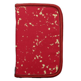 Red and light yellow specks planners