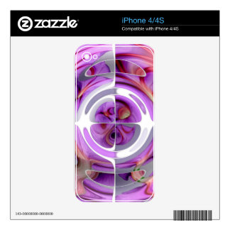 Red and Lilac Abstract Collage iPhone 4 Skin