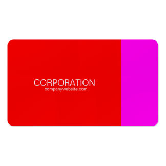 Red and magenta classy business cards