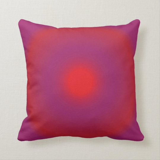 Red and Magenta Throw Pillow