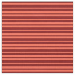 [ Thumbnail: Red and Maroon Colored Lines Fabric ]