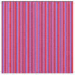 [ Thumbnail: Red and Medium Slate Blue Striped/Lined Pattern Fabric ]