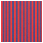 [ Thumbnail: Red and Midnight Blue Stripes Fabric ]