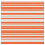 [ Thumbnail: Red and Mint Cream Colored Lined/Striped Pattern Fabric ]