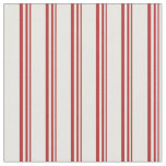 [ Thumbnail: Red and Mint Cream Colored Lines/Stripes Pattern Fabric ]