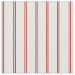 [ Thumbnail: Red and Mint Cream Colored Pattern of Stripes Fabric ]