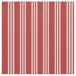 [ Thumbnail: Red and Mint Cream Colored Stripes/Lines Pattern Fabric ]